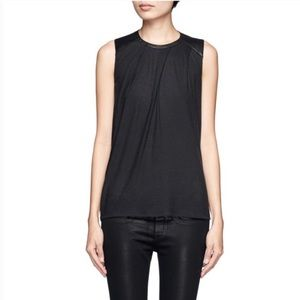Helmut Lang leather panel tank